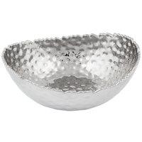 Pampa Bay CER-2019-SV Millennium 24.9 oz. Silver Titanium-Plated Porcelain Oval Bowl