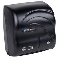 San Jamar T7590TBK Simplicity Oceans Compact Mechanical Hands Free Paper Towel Dispenser - Black Pearl
