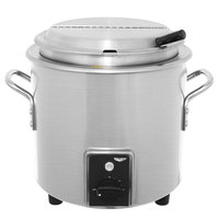 Vollrath 7217710 Natural Metal Finish Retro 7 Qt. Stock Pot Kettle Rethermalizer - 120V, 1450W