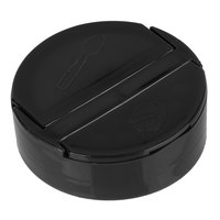 Choice Black Dual-Flapper Pour / Shake Spice Container Lid with a 63/485 Finish