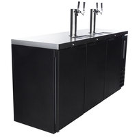 Beverage-Air DD72HC-1-B (2) Double Tap Kegerator Beer Dispenser - Black, (3) 1/2 Keg Capacity