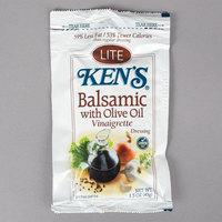 Ken's Foods 1.5 oz. Lite Balsamic with Olive Oil Vinaigrette Pouch - 60/Case