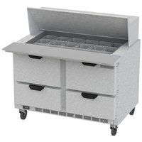 Beverage Air SPED48HC-18M-4 48 inch 4 Drawer Mega Top Refrigerated Sandwich Prep Table