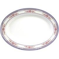 Rose 12 inch x 9 inch Oval Melamine Deep Platter - 12 / Pack