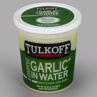 Tulkoff 32 oz. Natural Chopped Garlic in Water   - 6/Case