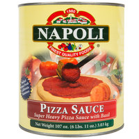 Napoli Foods #10 Super Heavy Pizza Sauce with Basil - 6/Case