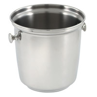 Vollrath 48330 Stainless Steel Wine Bucket with Handles and Silverplated Finish