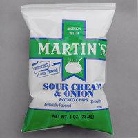 Martin's 1 oz. Sour Cream & Onion Potato Chip Bag - 30/Case