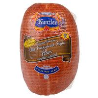 Kunzler 10 lb. Smoked Boneless Old Fashioned Style Ham - 3/Case