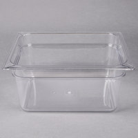 Carlisle 10222B07 StorPlus 1/2 Size Clear Food Pan - 6 inch Deep