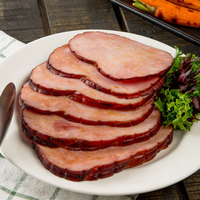 Kunzler 7 lb. Hardwood Smoked Black Forest Honey Ham - 2/Case