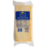 Great Lakes 1.5 lb. Pre-Sliced Muenster Cheese - 6/Case