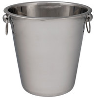 Choice 4 Qt. Smooth Stainless Steel Wine / Champagne Bucket
