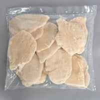 OK Foods 5 lb. Bag 5 oz. Boneless Skinless Chicken Breasts - 3/Case