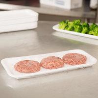 Genpak 1013S (#13S) White Foam Meat Tray 10 13/16 inch x 4 5/8 inch x 1/2 inch - 500/Case