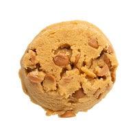 David's Cookies 3 oz. Preformed Peanut Butter with Peanut Butter Chips Cookie Dough - 107/Case
