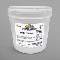 Lawrence Foods 20 lb. Pail Diced Peach Pie Filling