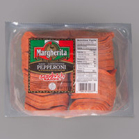 Margherita 2 lb. Sandwich Style Sliced Pepperoni - 8/Case