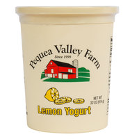 Pequea Valley Farm 32 oz. Amish-Made 100% Grass Fed Lemon Yogurt - 6/Case