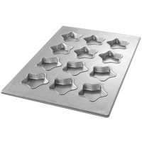Chicago Metallic 43045 12 Cup Glazed Customizable Mini-Star Specialty Pan - 17 7/8 inch x 25 7/8 inch