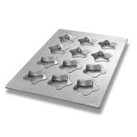 Chicago Metallic 43045 12 Cup Glazed Mini-Star Specialty Pan - 17 7/8 inch x 25 7/8 inch