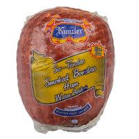 Kunzler 3 lb. So-Tender Genuine Hardwood Smoked Boneless Ham - 5/Case