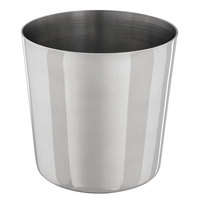 Choice 14 oz. Smooth Stainless Steel Appetizer / French Fry Holder with Flat Top