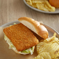 Icelandic 3 oz. Uncooked Wild Caught Breaded Haddock Square Fillets - 6 lb.