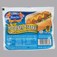 Kunzler 1 lb. 10/1 Size Turkey Franks   - 12/Case