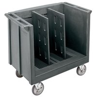 Cambro TDC30191 Adjustable Granite Gray Tray and Dish Cart with Vinyl Cover