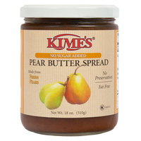 Kime's 18 oz. No Sugar Added Pear Butter Spread   - 12/Case
