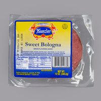 Kunzler 12 oz. Sliced Sweet Bologna - 8/Case