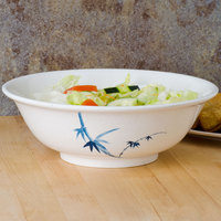 Thunder Group 5095BB Blue Bamboo 96 oz. Round Melamine Rimless Bowl - 12/Case