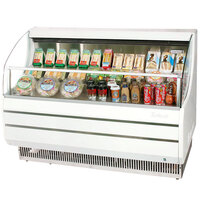Turbo Air TOM-50S White 50 inch Slim Line Horizontal Air Curtain Display Case - 8.7 Cu. Ft.