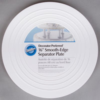 Wilton 302-4106 Decorator Preferred Round Smooth Edge Cake Separator Plate - 16 inch
