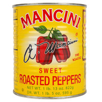 Mancini 29 oz. Sweet Roasted Red Peppers   - 12/Case