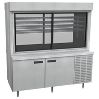 Delfield F15PC72NV 72 inch Narrow Depth Refrigerated Display Case with Storage Base and Pass-Through Back