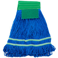 MFSTM18GN 18 oz. Medium Knuckle Buster Microfiber String Mop Head with Green Scrubber and 5 inch Band