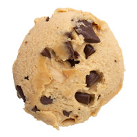 David's Cookies 3 oz. Preformed Classic Chocolate Chunk Cookie Dough - 100/Case
