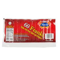 Kunzler 6 lb. 60 Count Pack 10/1 Size Regular Franks - 2/Case