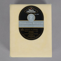 Black Diamond 5 lb. Grand Reserve Premium Extra Sharp Aged Cheddar Cheese - 2/Case