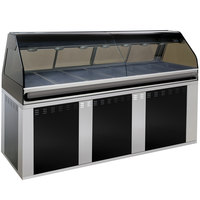 Alto-Shaam EU2SYS-96/PR SS Stainless Steel Cook / Hold / Display Case with Curved Glass and Base - Right Self Service, 96 inch
