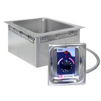 APW Wyott HFWEZ-12D Insulated 1/2 Size Pan Drop In Hot Food Well with Drain - 208/240V; 500/600W