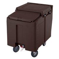 Cambro ICS125L131 Dark Brown Sliding Lid Portable Ice Bin - 125 lb. Capacity