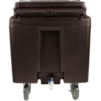 Cambro ICS125L131 SlidingLid Dark Brown Portable Ice Bin - 125 lb. Capacity