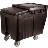 Cambro ICS125L131 SlidingLid™ Dark Brown Portable Ice Bin - 125 lb. Capacity