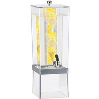 Cal-Mil 2016-INF-74 Silver 3 Gallon Econo Beverage Dispenser with Infusion Chamber - 8 inch x 10 inch x 24 inch