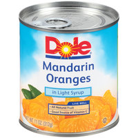 Dole 11 oz. Can Mandarin Oranges in Light Syrup   - 12/Case