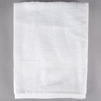 Oxford Silver 24 inch x 48 inch White Open End Cotton / Poly Hotel Bath Towel 8 lb. - 120/Case