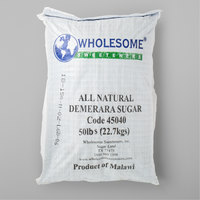 Wholesome Sweeteners 50 lb. Raw Natural Demerara Turbinado Sugar